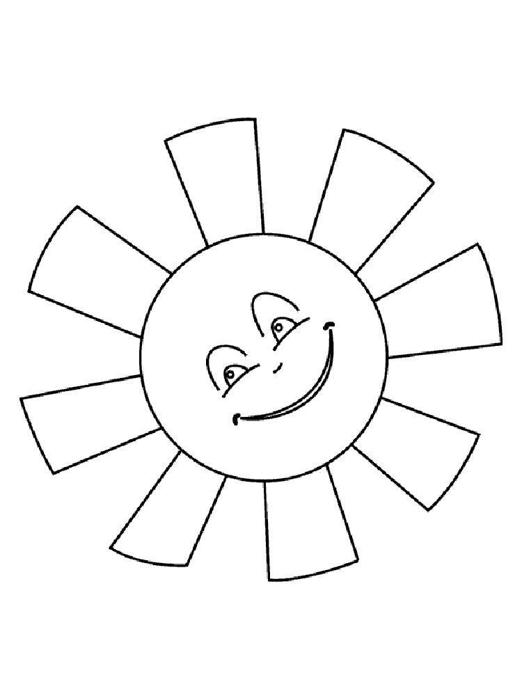 картинки по запросу солнышко раскраска Fastrackids