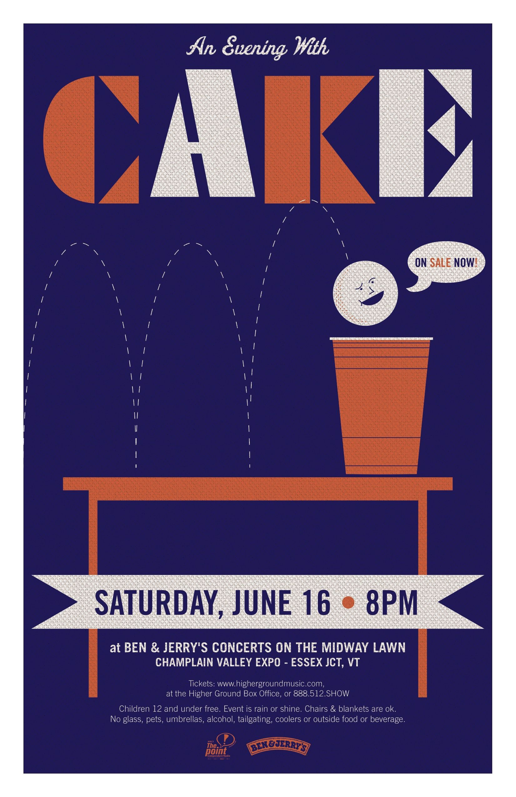 Here is a poster for the band Cake. Unfortunately it was rejected because  the venue felt that Beer Pong was not a good representation of the band and  their ...