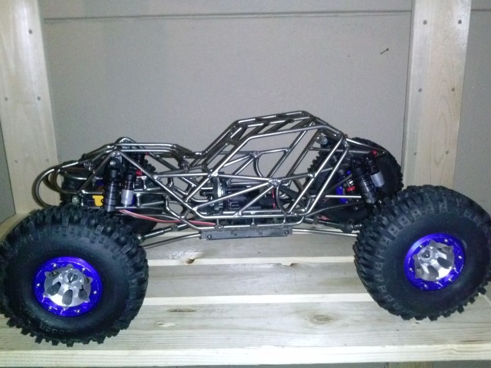 1 10 Custom Hillbilly Deluxe Axial Wraith Bouncer Chassis Radio