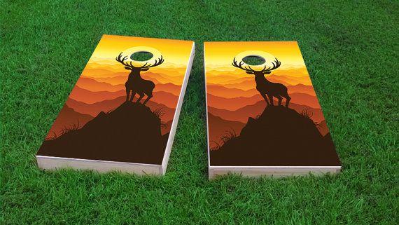 Regulation Size Custom Cornhole Board Game Set Corn Hole Wood Illinois Themed Light Weight Bag Toss 1x4