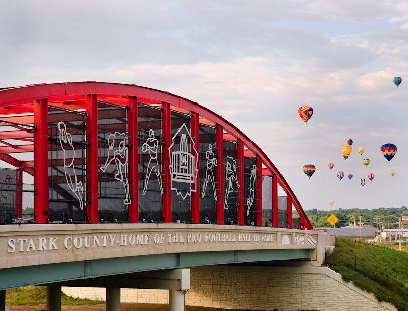 Pro Football Hall Of Fame Bridge Canton Ohio This Was Taken
