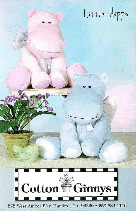 Hippo Plush pattern