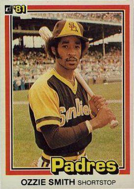 1981 Donruss Ozzie Smith 1 Baseball Card Baseball Baseball Cards Old Baseball Cards