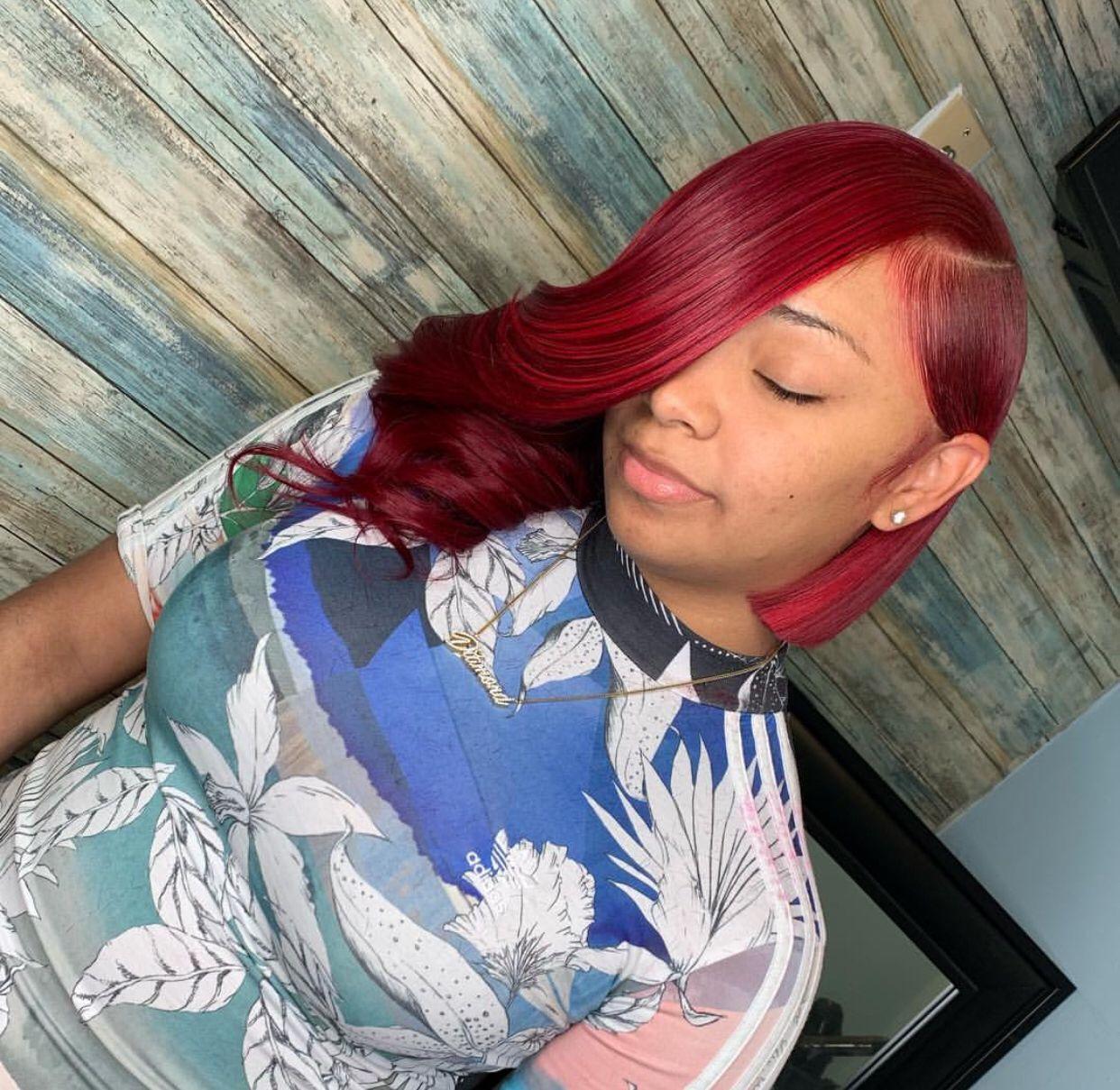 Kamaridenise Short Red Hair Short Weave Hairstyles Cute Hairstyles For Short Hair
