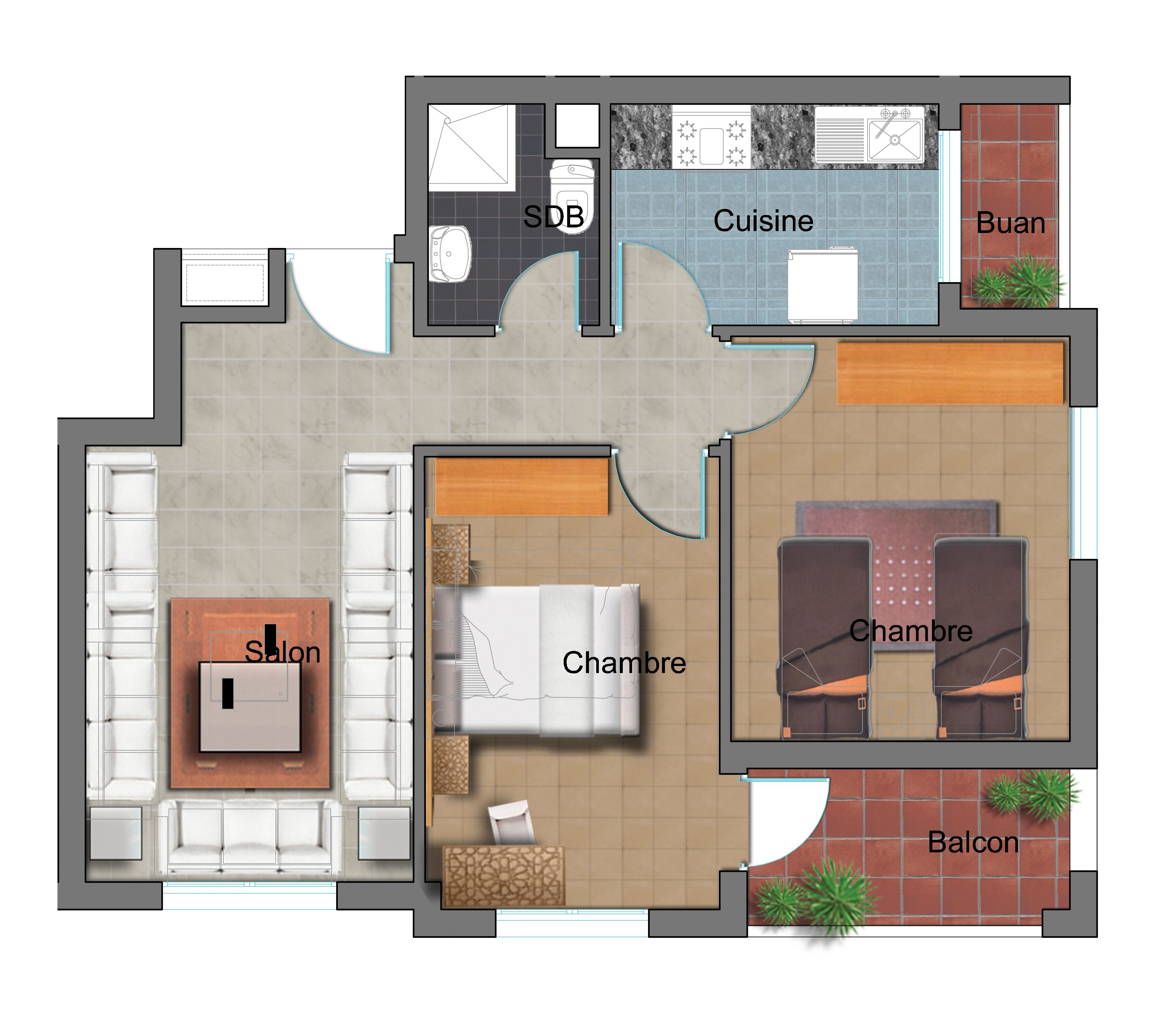 44++ Plan appartement 70m2 2 chambres ideas in 2021