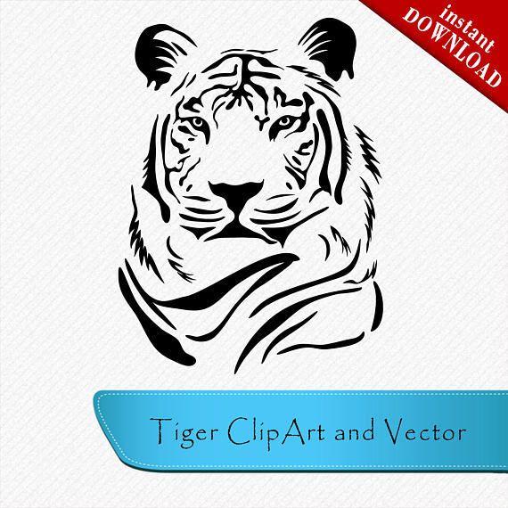 tiger svg head