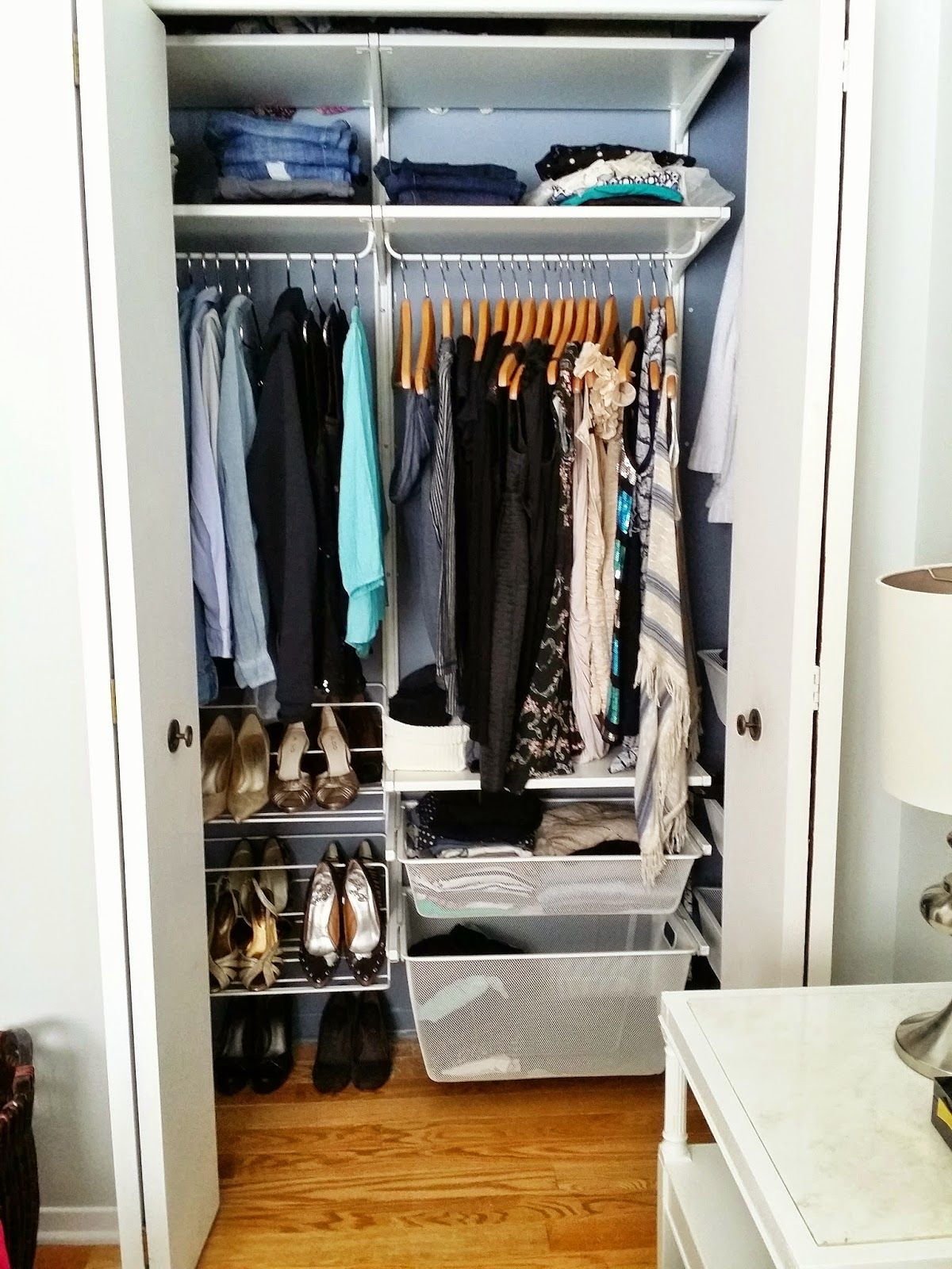 My Perfectly Organized Closet System Ikea S Algot System Ikea