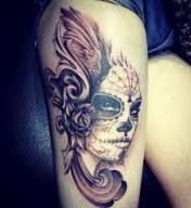 17+ Ideas tattoo girl beautiful sugar skull #tattoo