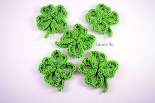 Crochet Four Leaf Clover Free Pattern Video Tutorial Pinterest