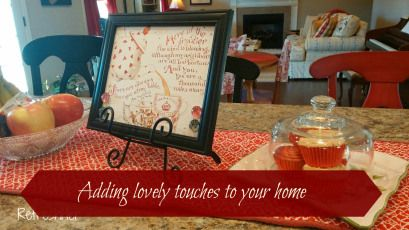 Adding Lovely Touches to Your Home