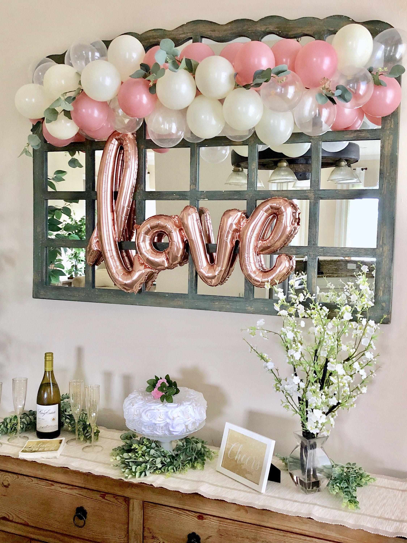 Mini Rose Balloon Garland DIY KitRosewood Clear & Ivory