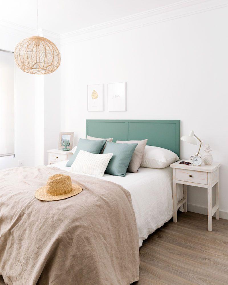 de color dormitorio y cabecero con lampara techo pintado yvmN08wnO