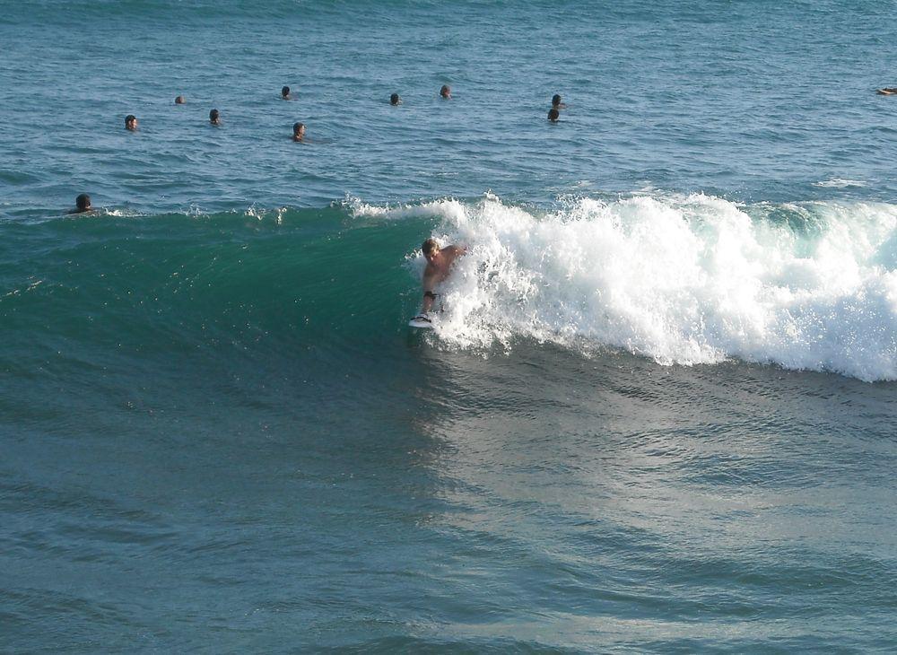 Brian Fannin shredding PointPanic,Oahu