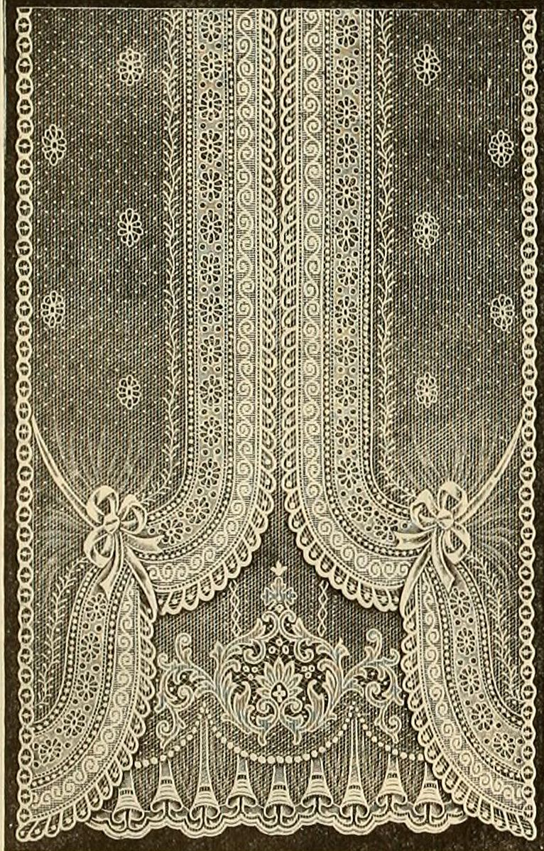Black lace curtains vintage - Edwardian Lace Curtain Not Sure If I Would Want This In An Actual Window
