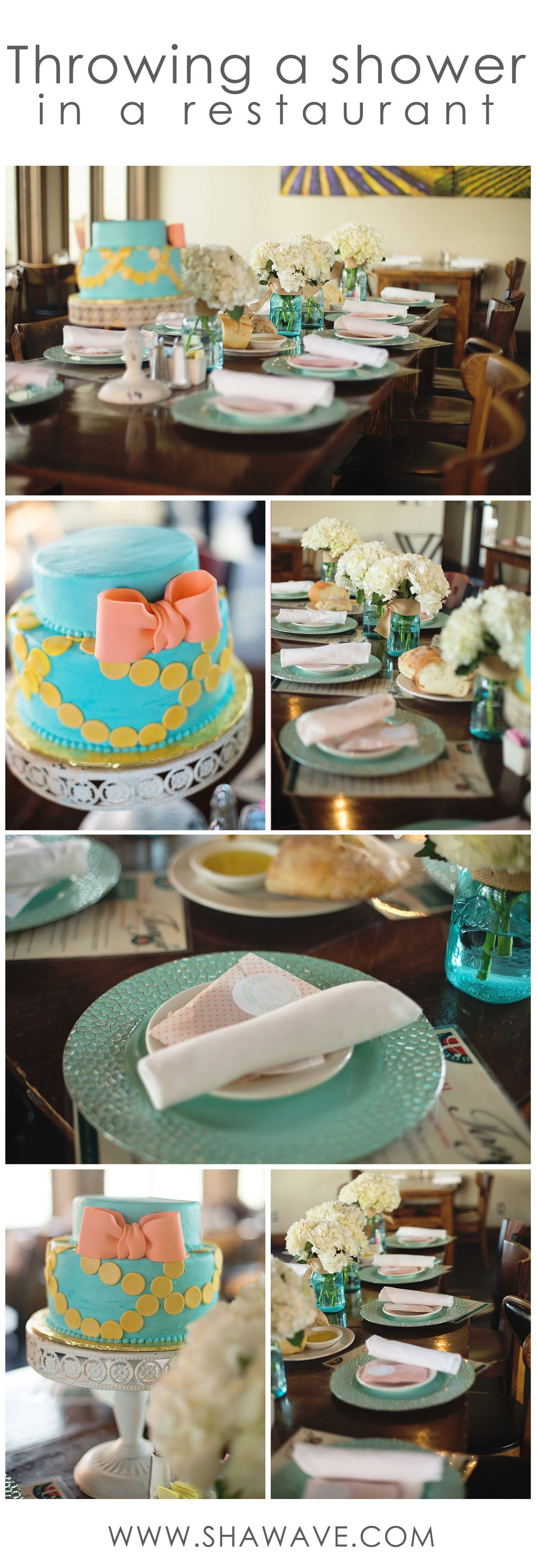 How to host a baby shower at a restaurant   Baby shower at ...