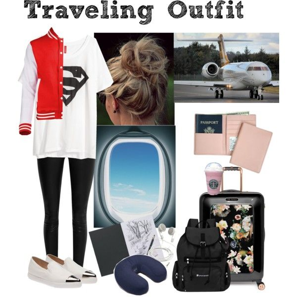 Traveling Outfit! by anadoribeljimenez on Polyvore featuring H&M, The Row, Miu Miu, Ted Baker, Royce Leather and Sherpani