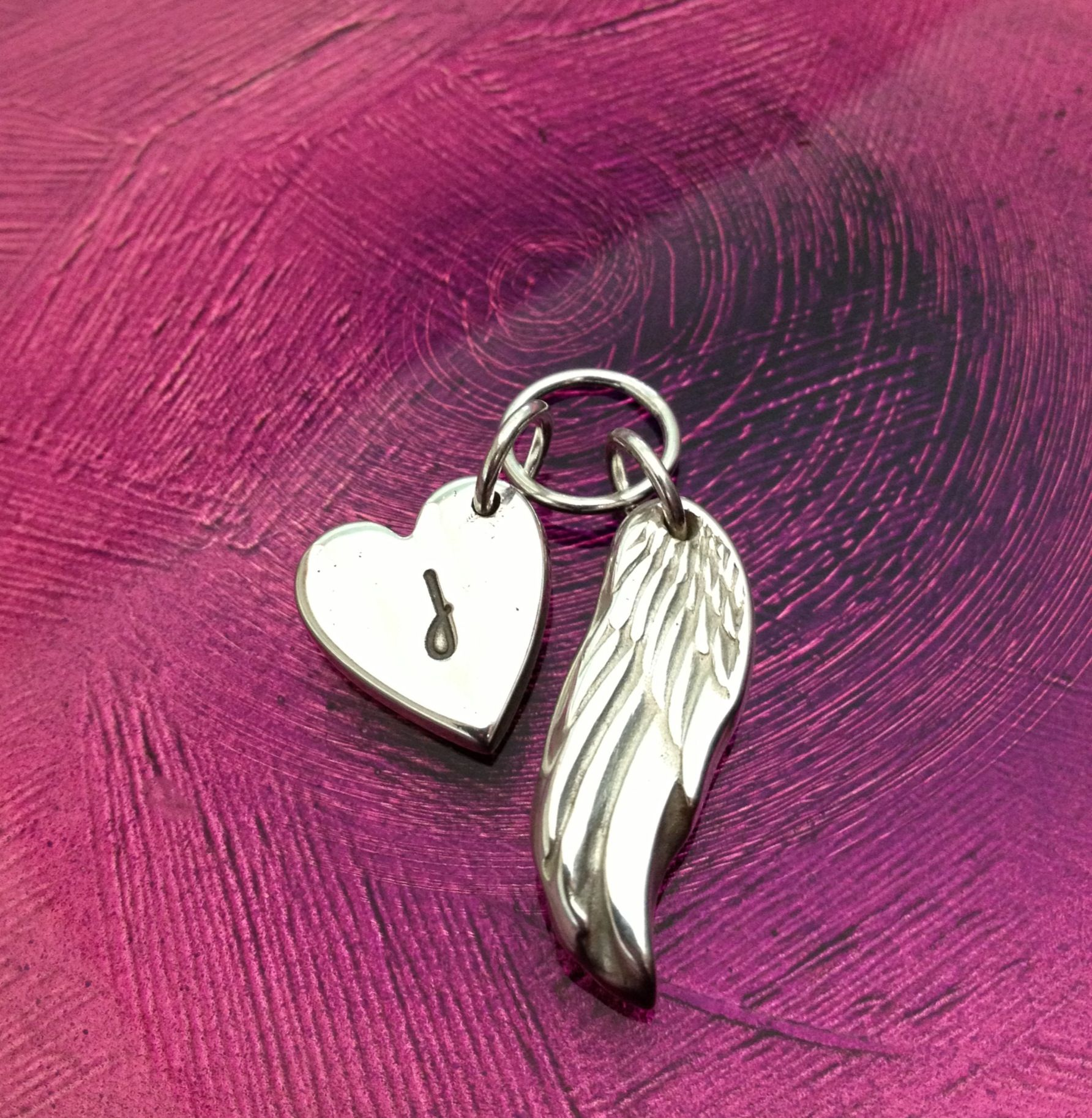 Angel wing & heart made to order Angel wings heart