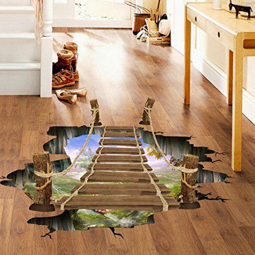 Vinilo decorativo 3d para suelo puente murales de - Vinilos autoadhesivos para suelos ...