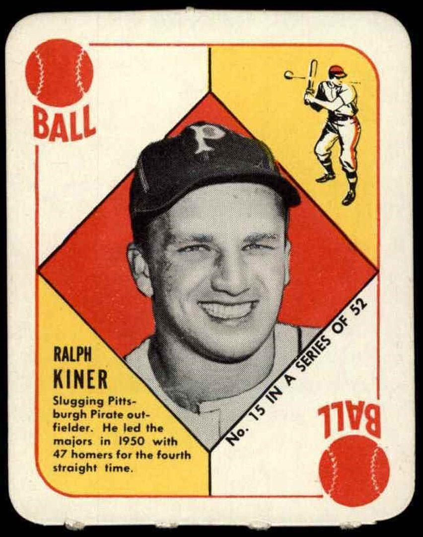 1951 Topps Red Back Ralph Kiner Topps Baseball Cards