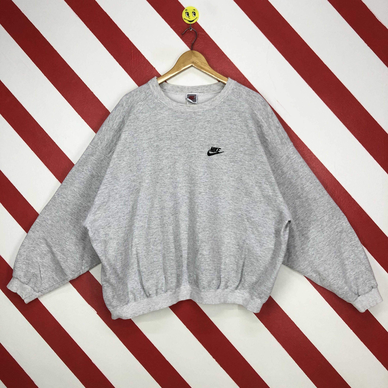 Vintage 90s Nike Sweatshirt Crewneck Nike Swoosh Sweater Etsy Sweatshirts 90s Sportswear Sportswear [ 3000 x 3000 Pixel ]