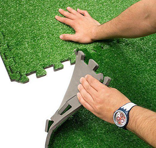 Sorbus Gr Mat Interlocking Floor Tiles Soft Artificial Carpet