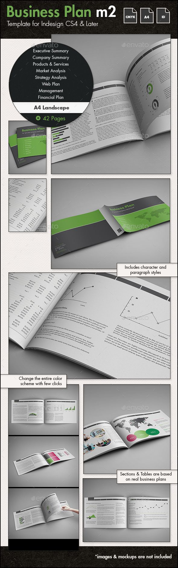 Business Plan Template m2 A4 Landscape