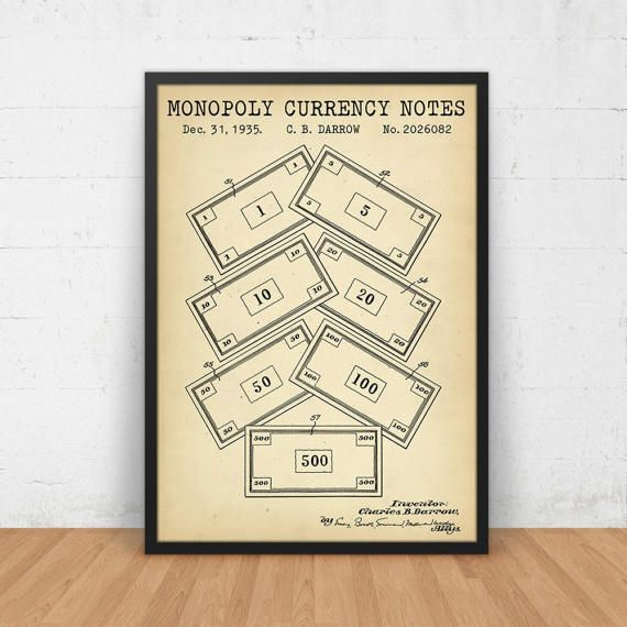 Monopoly currency patent print digital download vintage board game monopoly currency patent print digital download vintage board game monopoly poster printable monopoly enthusiasts gift blueprint art malvernweather Image collections