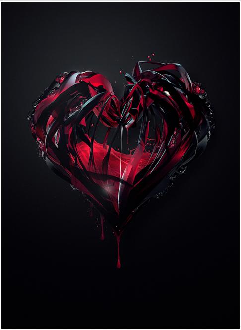 Heart Illustration Fondo De Pantalla De Corazon Roto Tatuaje Corazon Roto Amor Oscuro