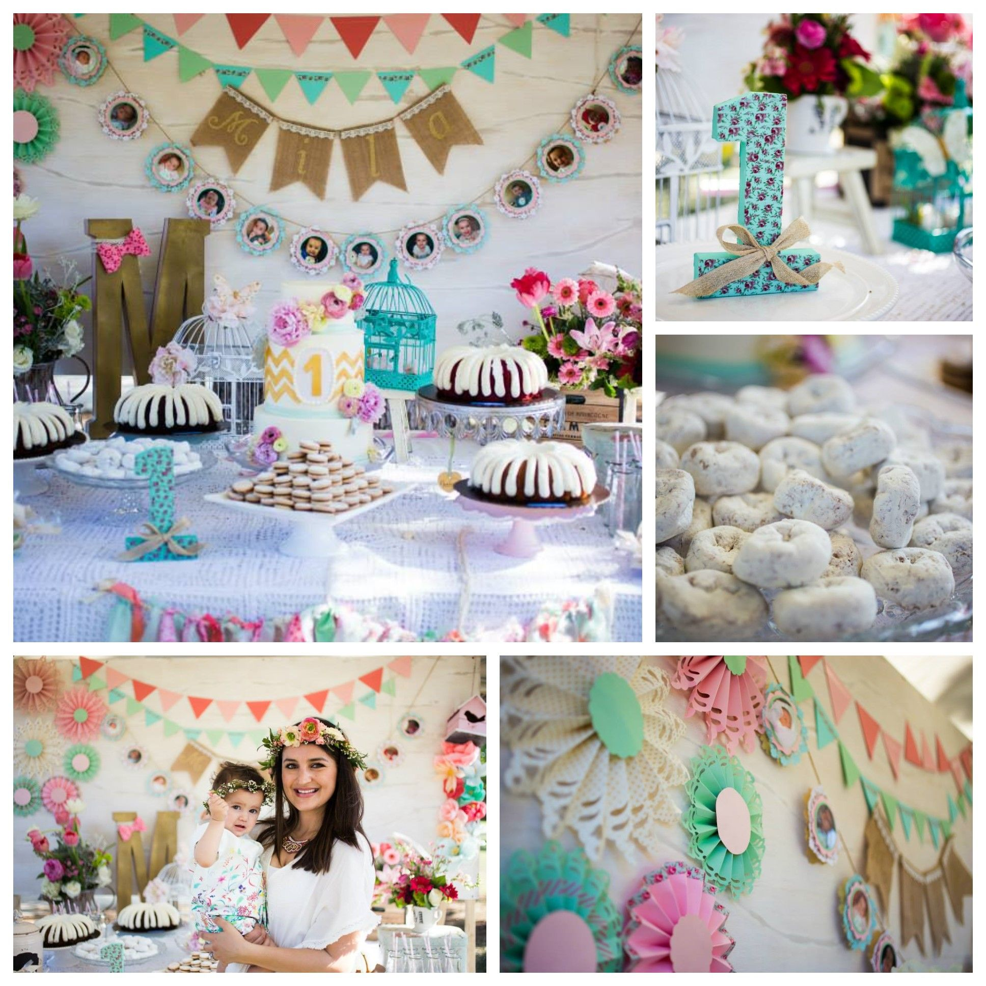 Sweet Vintage Boho Chic First Birthday Party Featured In Party