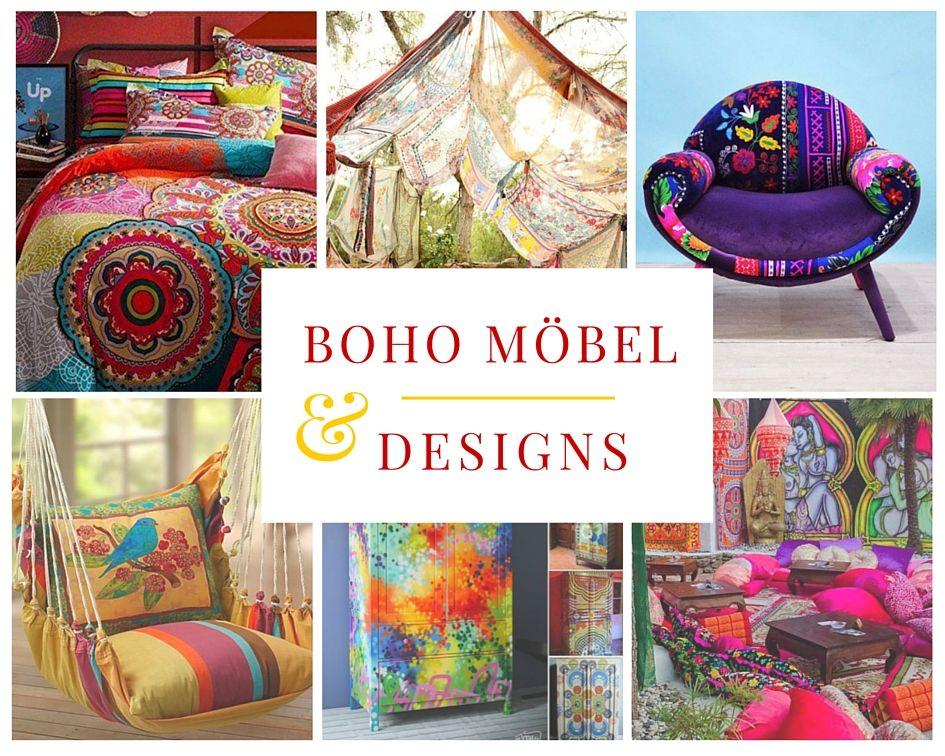 Boho Möbel und Designs   Pinterest   bunte Möbel, Boho stil und Boho