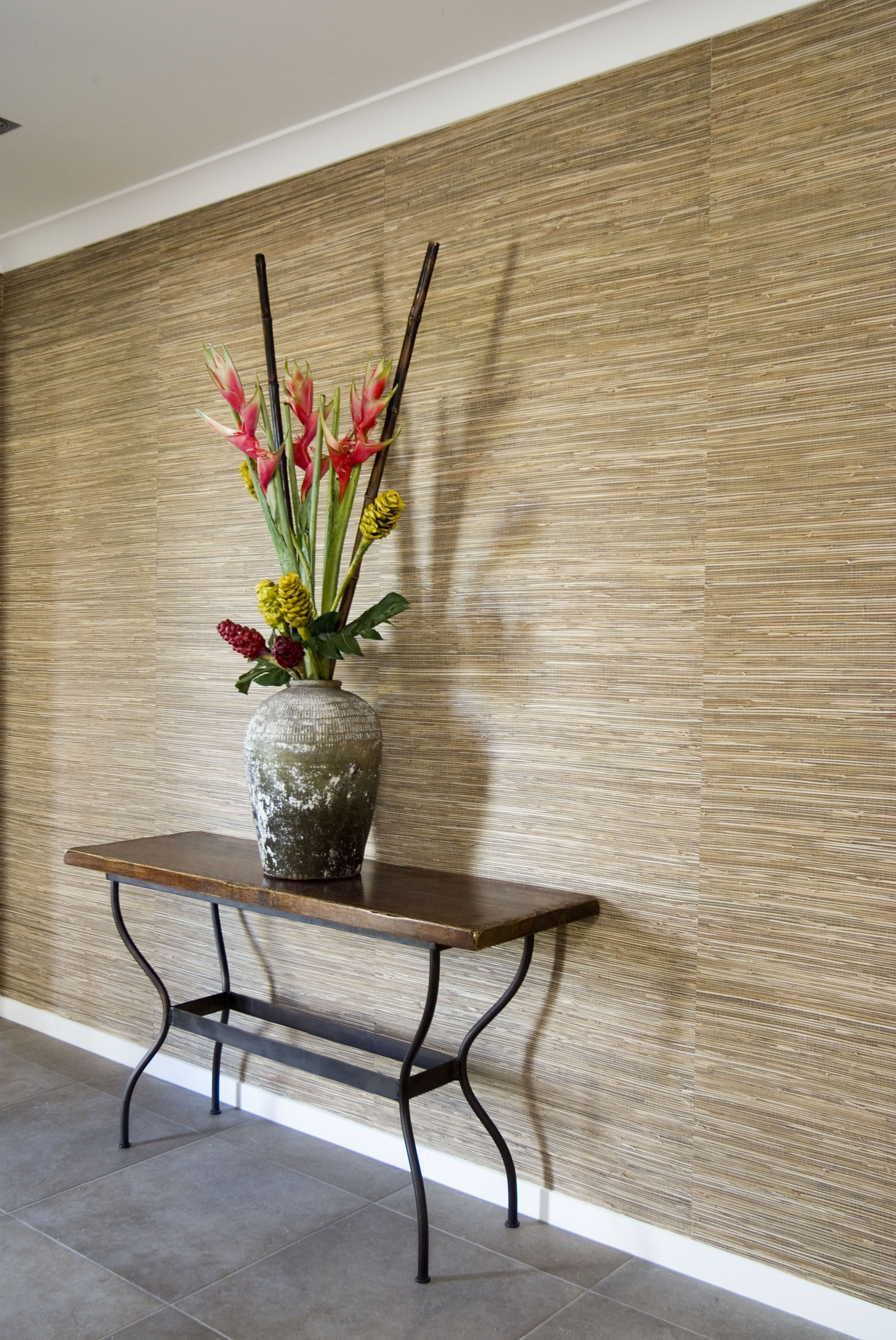 Natural Weave & Textured Sea Grass cloth Wallcoverings in