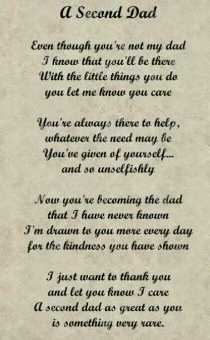 Second Dad My Step Daddy Fathers Day Quotes Dad Quotes Dad Poems