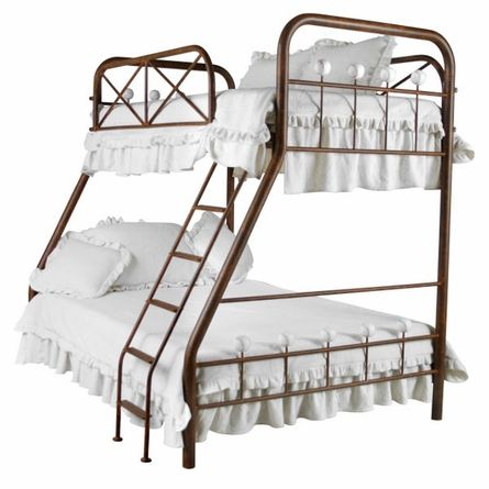 Baseball Iron Bunk Bed - Twin over Full