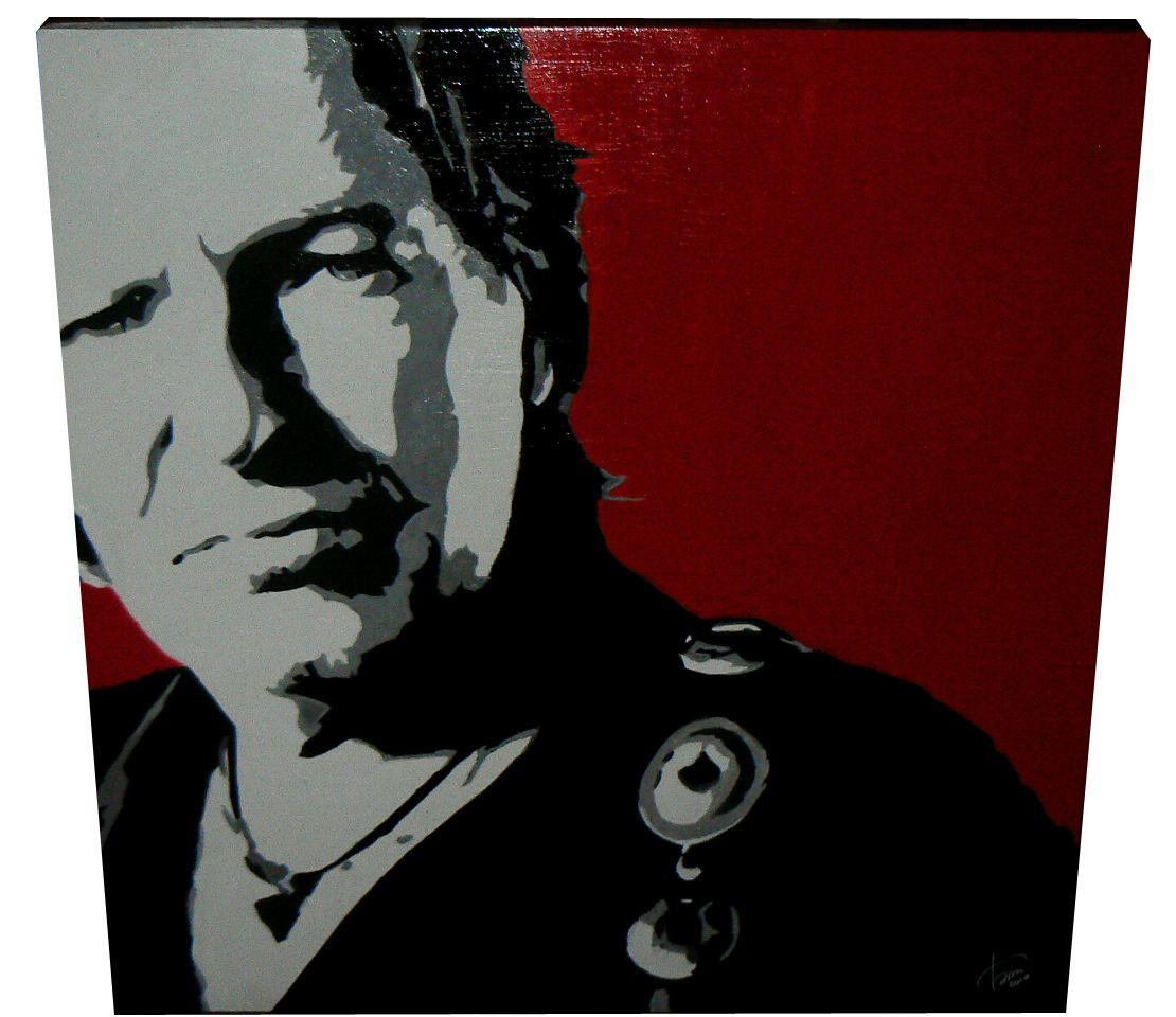 Vasco Rossi is back!!! #red #pop #art #music #handmade #portrait #album #famous #star #italia #twitter
