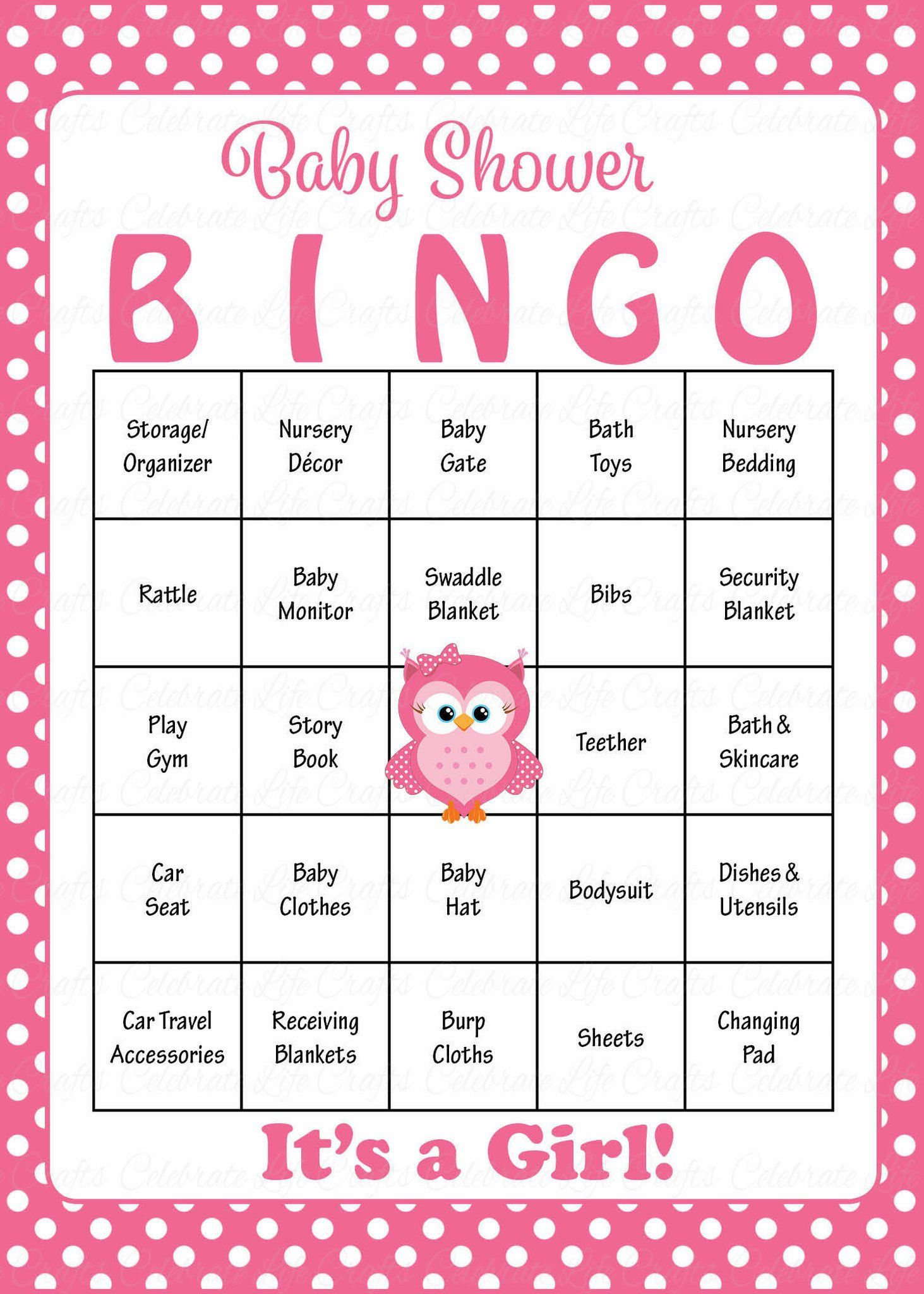 Baby Bingo Cards Printable Download Prefilled Baby Shower Game