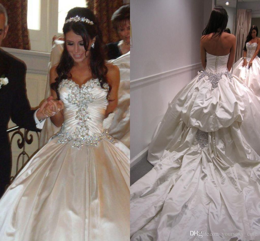 2017 Luxury Ball Gown Wedding Dresses Sweetheart Sparkly