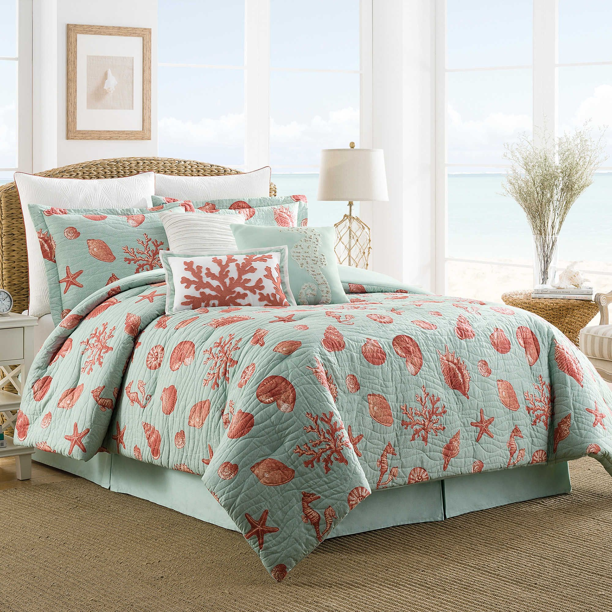sets walmart comforter grey coastal ip homes piece com better garden set bedding stripe