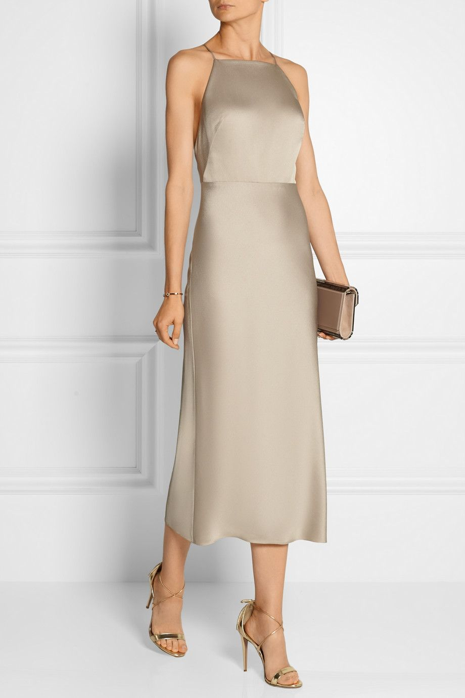 0a98381b6015 Jason Wu | Satin-crepe dress | NET-A-PORTER.COM | ❤ Net-a-Porter ...