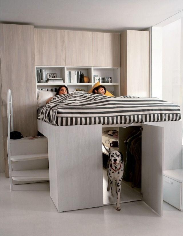 Lit mezzanine deux places - fonctionalité et variantes créatives ...