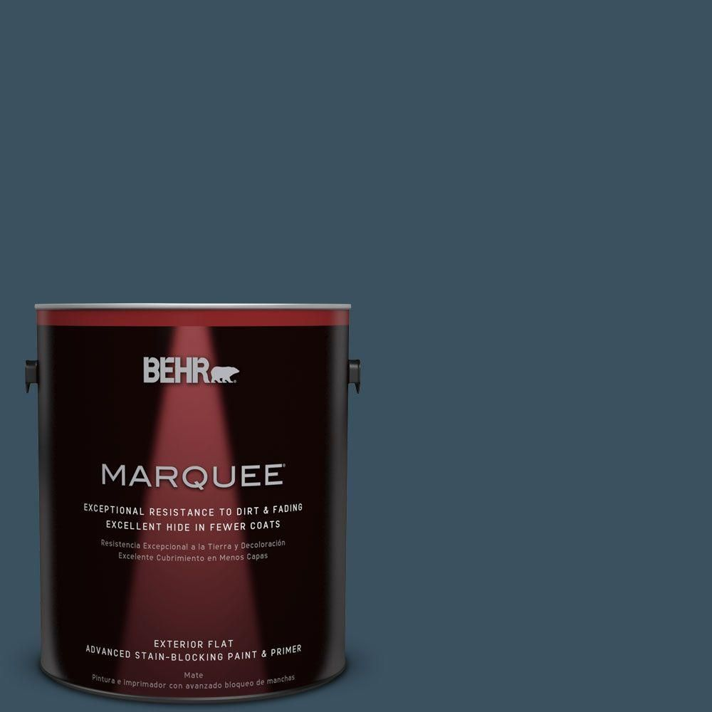 BEHR MARQUEE 1-gal. #PPU13-20 Restless Sea Flat Exterior Paint ...