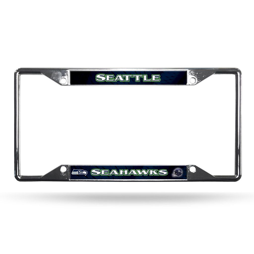 Seattle Seahawks License Plate Frame Chrome EZ View | Seahawks ...
