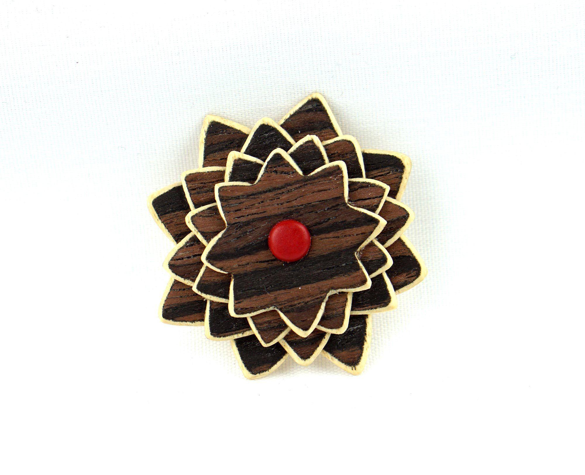 The Frank Wooden Lapel Flower