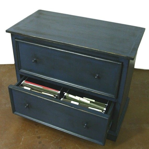 Wood Lateral File Cabinet Primitive Blue Finish By Shakastudios On