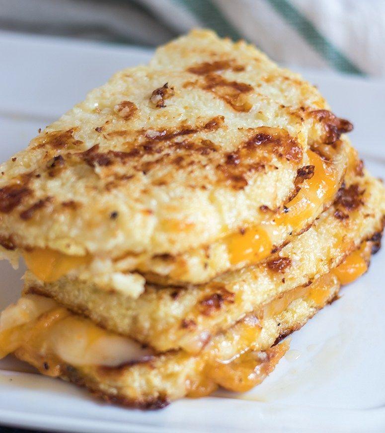 Cauliflower Bread Grilled Cheese Sandwich Healthy Healthyrecipe