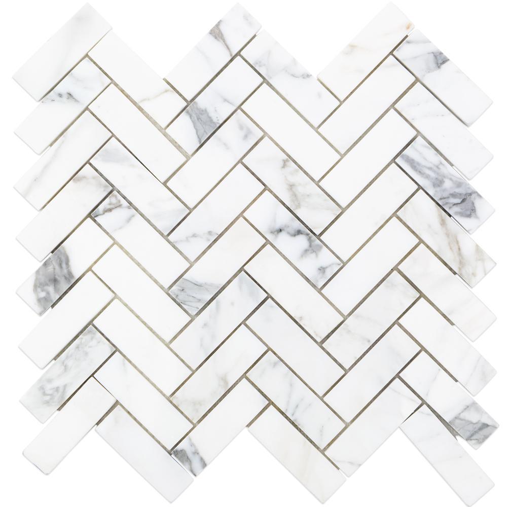 Herringbone Marble Mosaic