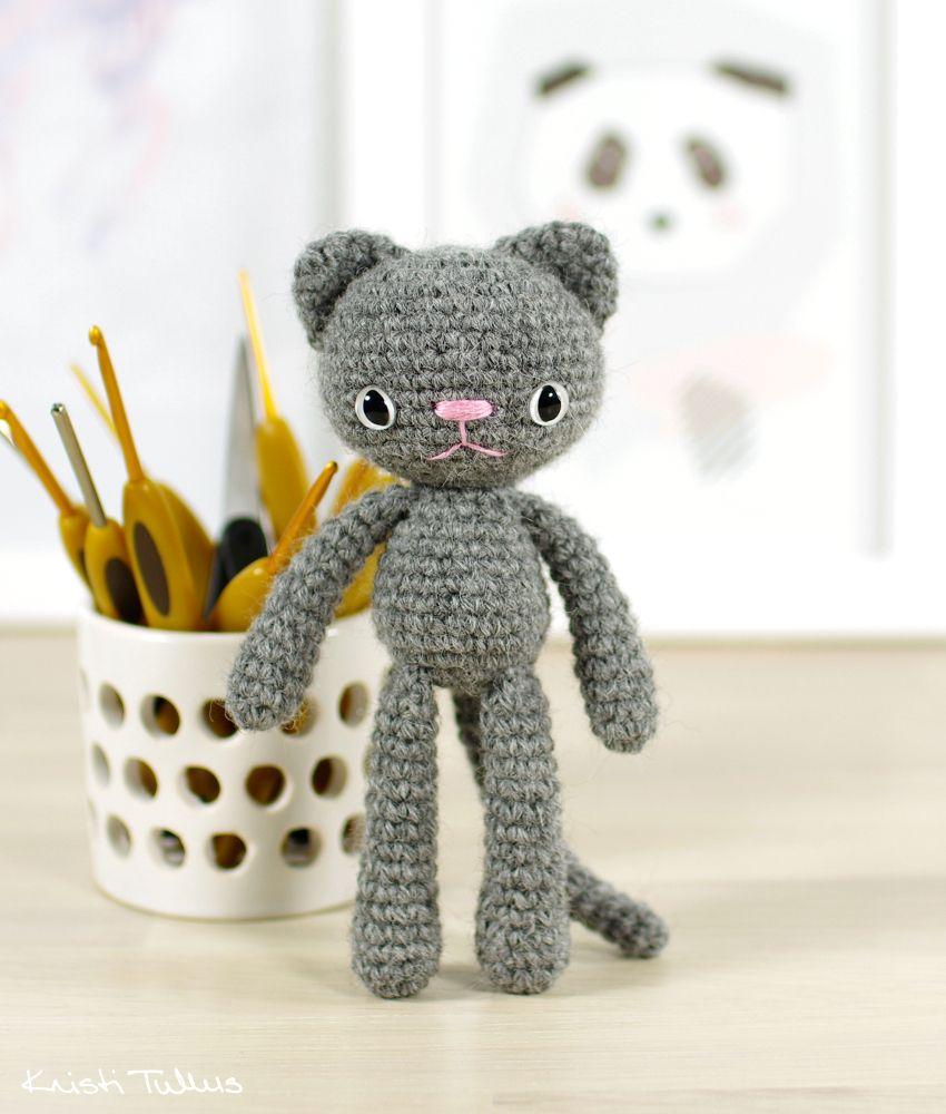 free amigurumi cat pattern | Mini crochet | Pinterest