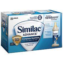Similac Advance Newborn Formula Bottles Ready To Feed 8 Pack 2 Fl Oz Newborn Bottles Baby Formula Baby Formula Milk