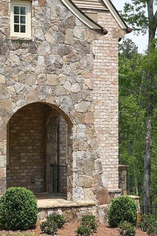 Exterior: Brick Stone Combination