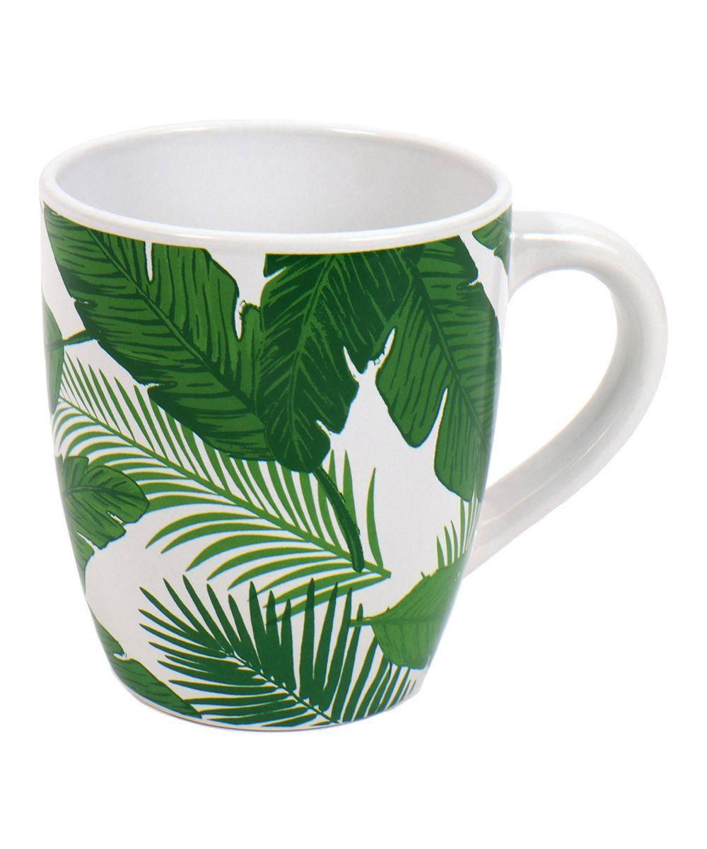 Ceramic Palm Leaf Mug