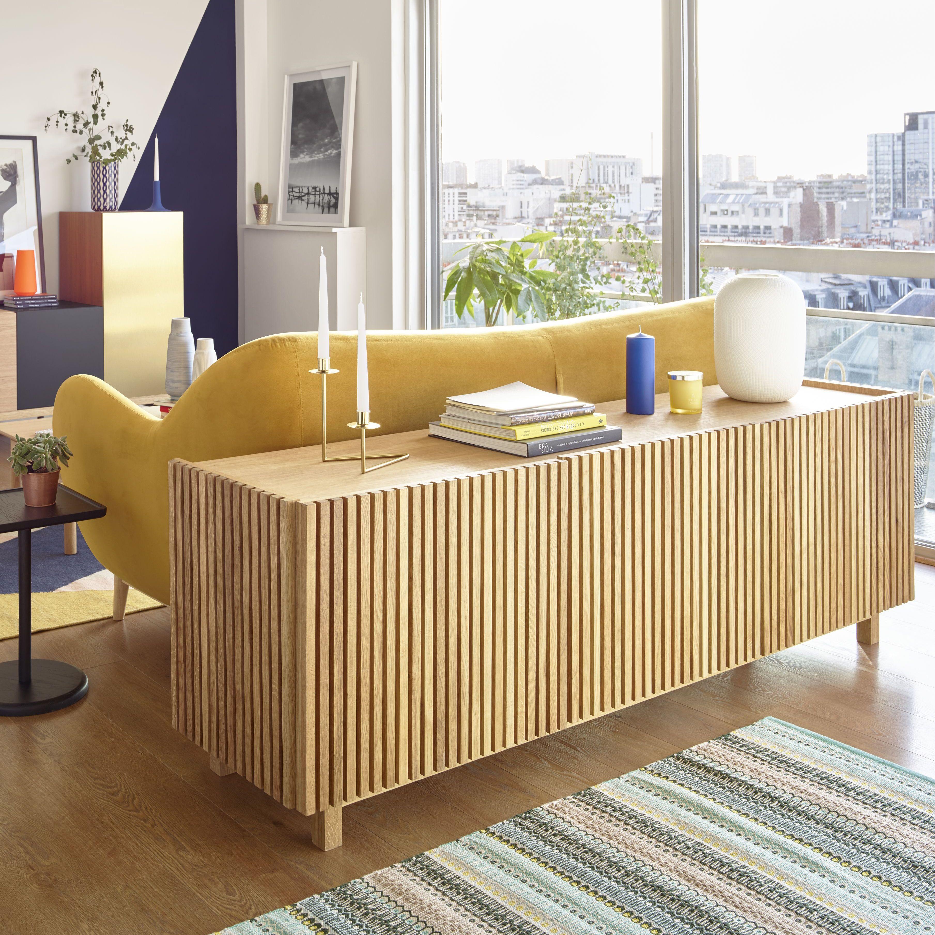 Kargo Buffet Bas 3 Portes En Chene Meuble Tele Design Buffet Bas Meuble Bas